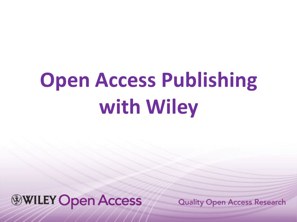 Open Access Publishing with Wiley