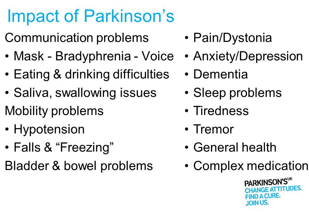 Managing Parkinson's