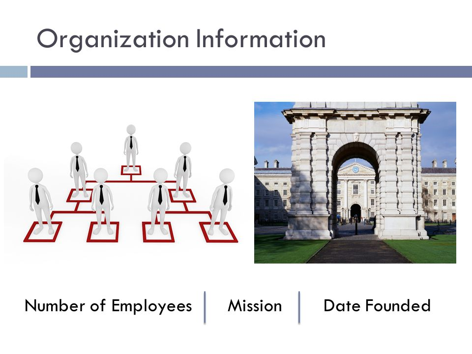 Organization Information Number of Employees Mission Date Founded