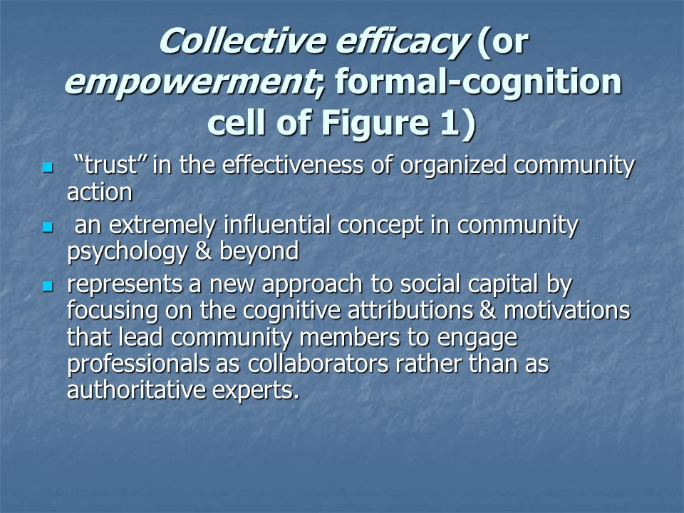 Learning Organizations & Social Capital Learning & other psychological bases of social capital largely untested Learning & other psychological bases of social capital largely untested Learning organization processes & outcomes in small non-profit & voluntary organizations & communities not well established or studied as they have been in larger for-profit corporations Learning organization processes & outcomes in small non-profit & voluntary organizations & communities not well established or studied as they have been in larger for-profit corporations Values, norms, beliefs, & aspirations of civic responsibility are learned through child socialization & adult learning in communities Values, norms, beliefs, & aspirations of civic responsibility are learned through child socialization & adult learning in communities Learning communities linked to social capital in educational reform & community development Learning communities linked to social capital in educational reform & community development