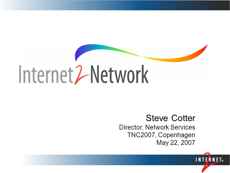 Slide 2 Internet2 Network Layer 1: Managed wavelengths from Level(3) Communications Level(3) owns and manages Infinera optical gear: responsible for software upgrades, equipment maintenance, remote hands, sparing, NOC services Internet2 NOC has total provisioning control Layer 2: Internet2 owned and managed Ciena CoreDirectors Using DRAGON GMPLS control plane Layer 3: Internet2 owned and managed Juniper T640s Expanded Observatory Platform for layer 1/3 network performance data collection, collocation, experimentation perfSONAR integration for intra- & inter-network performance analysis International connectivity Layer 1 network extended to international exchange points in Seattle, Chicago and New York City Peering points in Seattle, PAIX, Equinix Chicago Infrastructure Overview