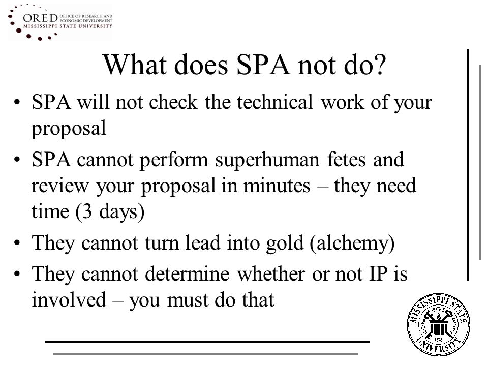 What does SPA not do.