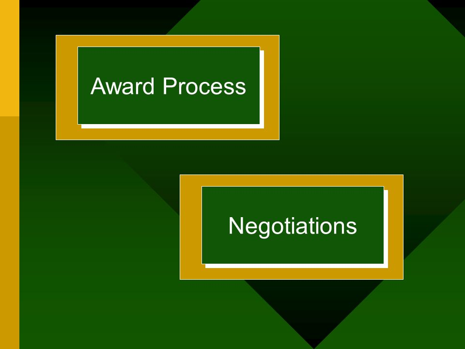 Award Process Negotiations