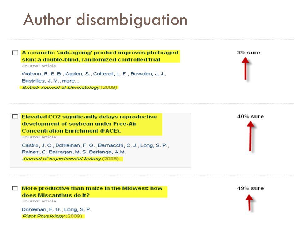 Author disambiguation