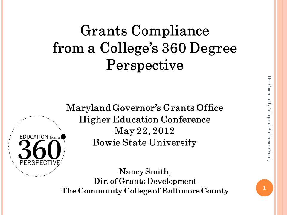 G RANTS C OMPLIANCE What is grants compliance.