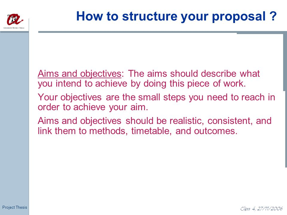 writing aims and objectives for a dissertation