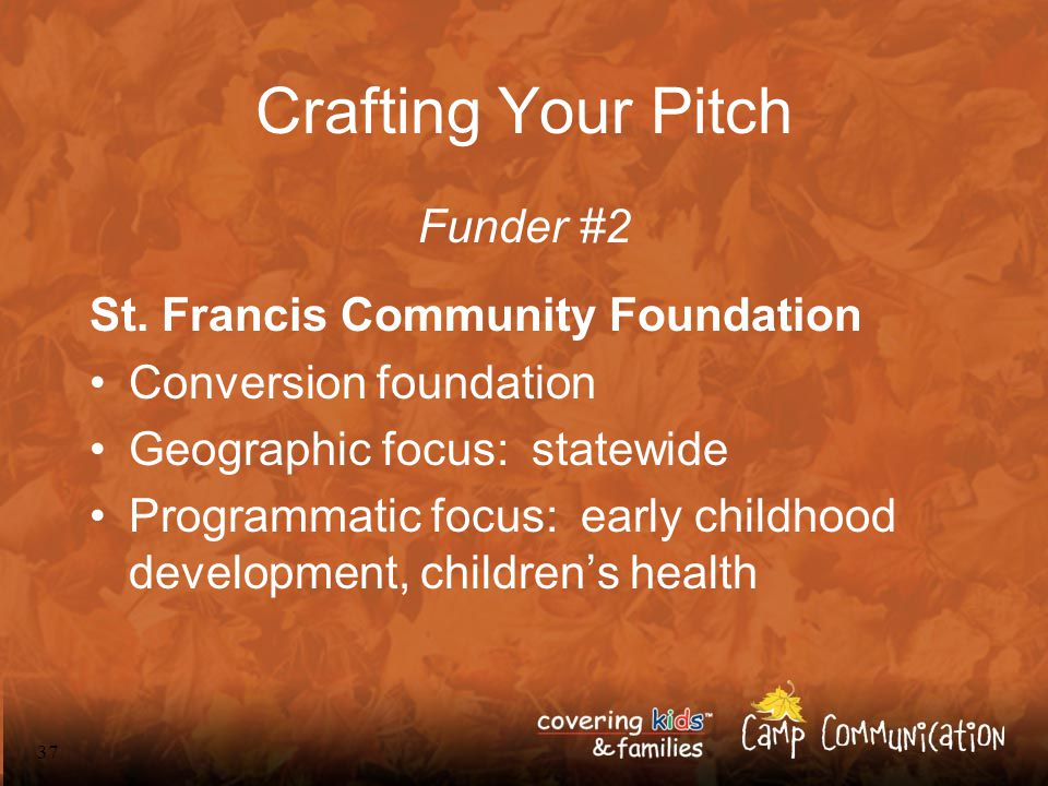 37 Crafting Your Pitch Funder #2 St.