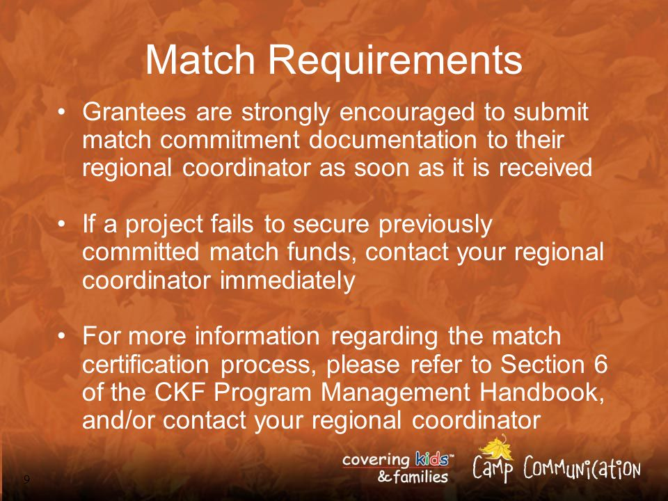 20 Meeting the Match: Arkansas About AACF Non-profit child advocacy organization founded in 1977 Covering Kids Grantee (1999-2001) –2 pilot sites Covering Kids & Families Grantee (2002- 2005) –5 local project sites