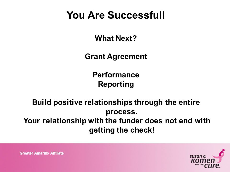 Greater Amarillo Affiliate You Are Successful. What Next.