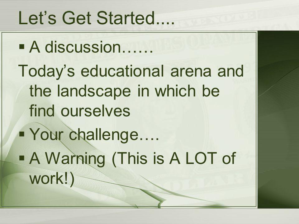 Let's Get Started....