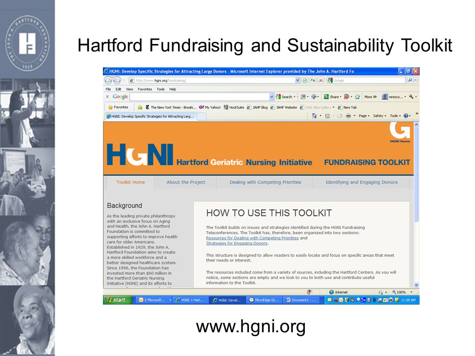 Hartford Fundraising and Sustainability Toolkit www.hgni.org