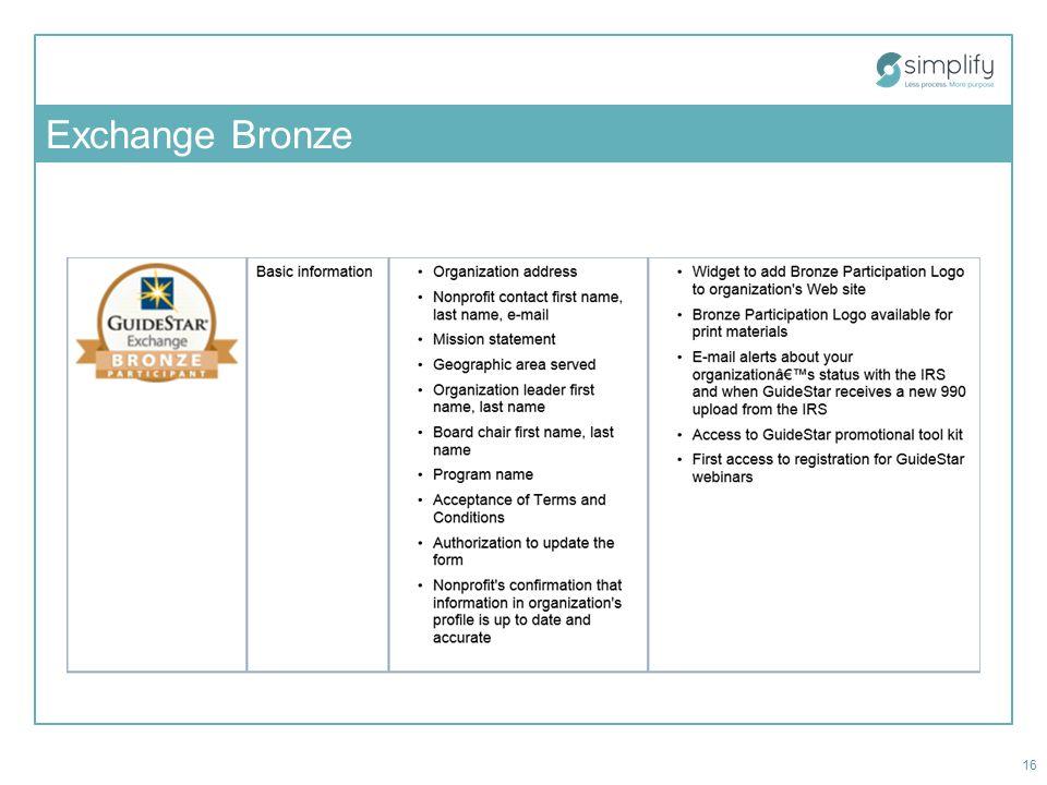 Exchange Bronze 16