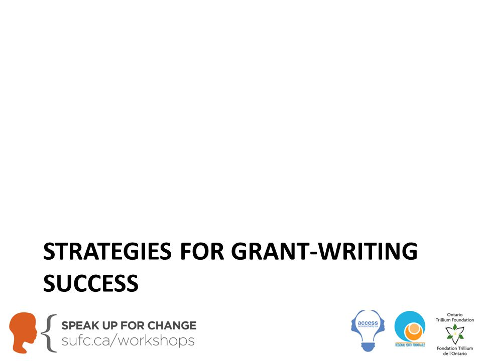 STRATEGIES FOR GRANT-WRITING SUCCESS