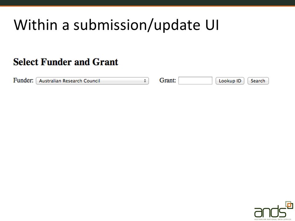 Within a submission/update UI