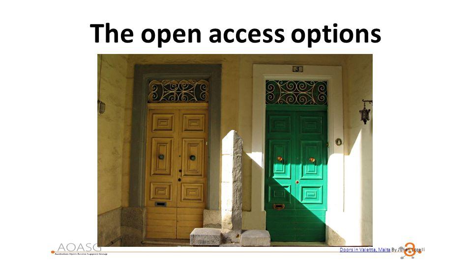 The open access options Doors in Valetta, Malta By Julien Lozelli Doors in Valetta, Malta
