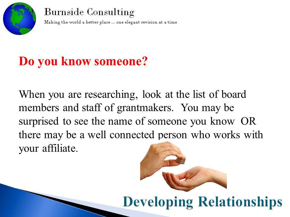 Do you know someone.