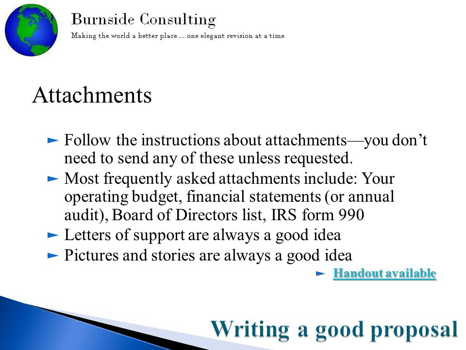 Attachments ► Follow the instructions about attachments—you don't need to send any of these unless requested.