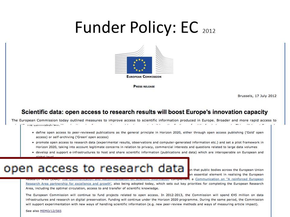 Funder Policy: EC 2012