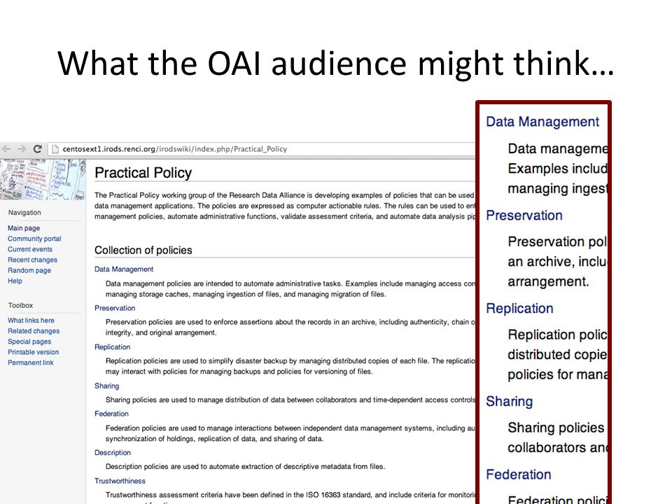 What the OAI audience might think…