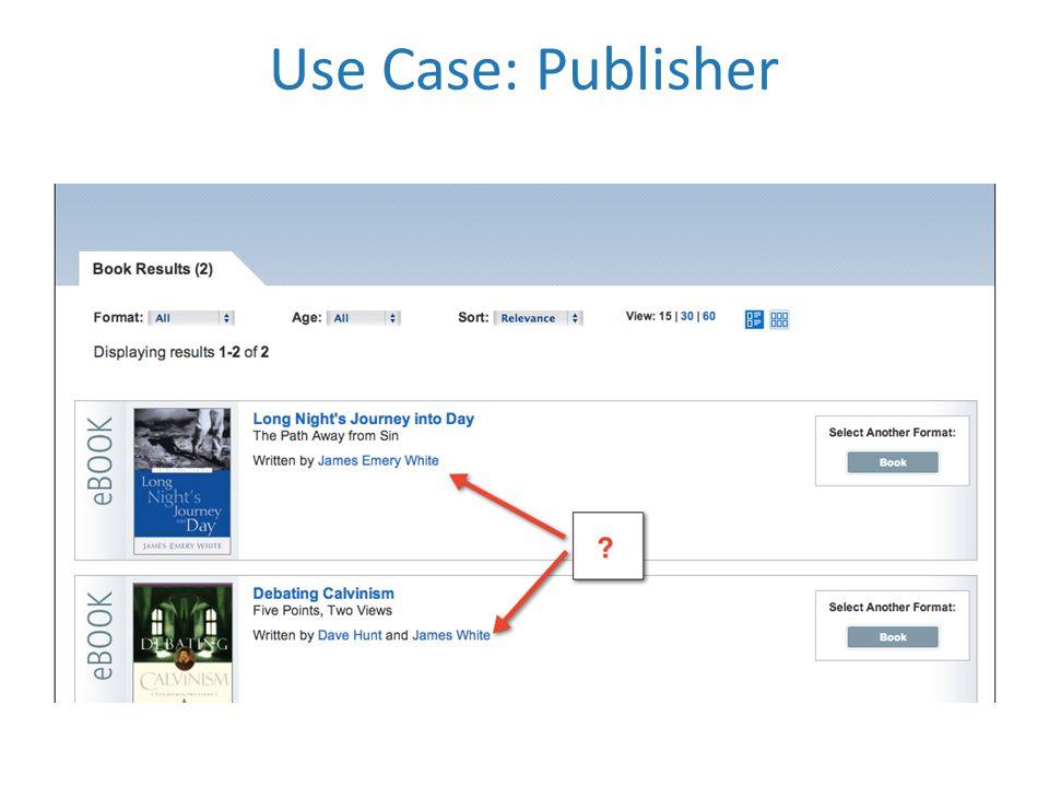 Use Case: Publisher