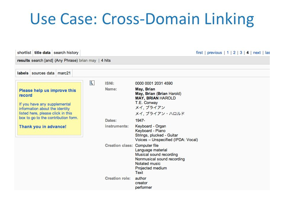 Use Case: Cross-Domain Linking