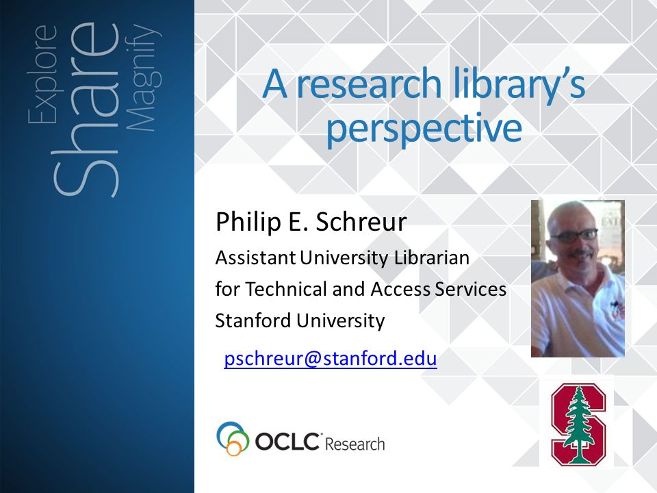 A research library's perspective Philip E.