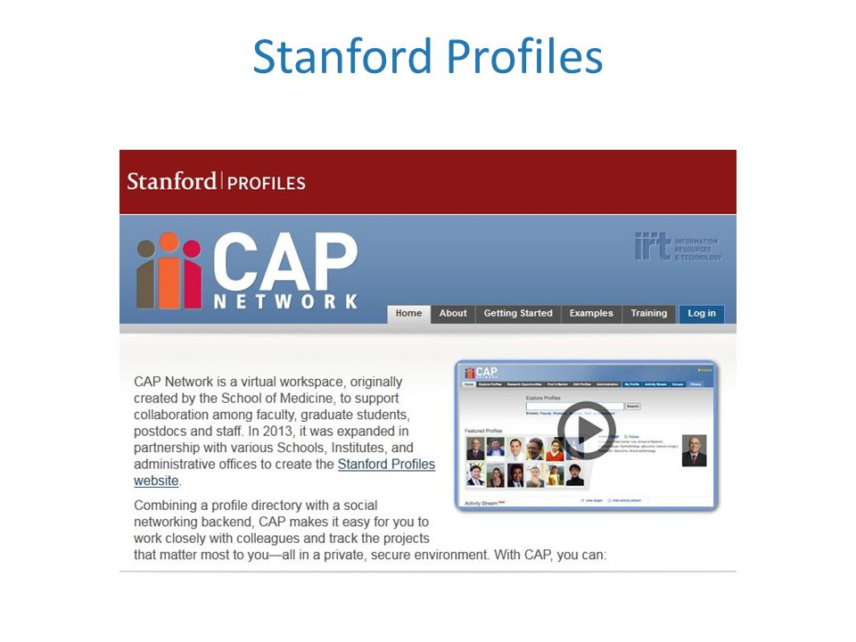 Stanford Profiles