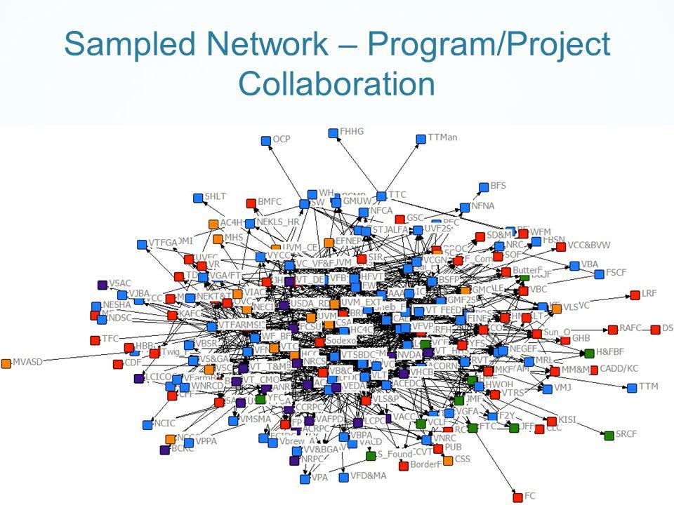 Sampled Network – Program/Project Collaboration
