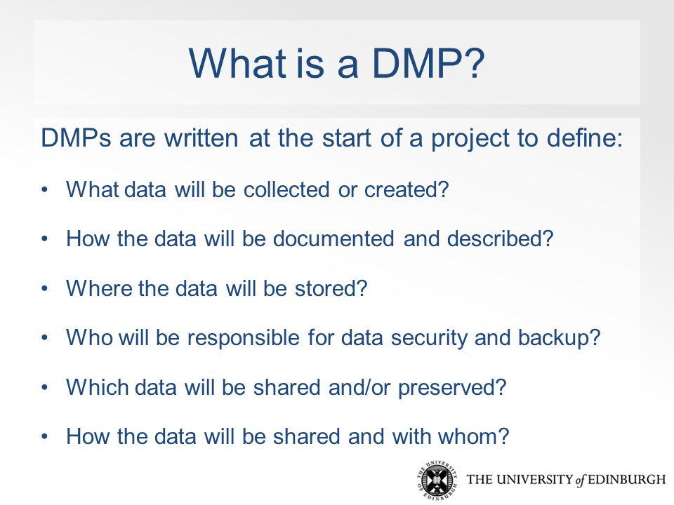 What is a DMP.