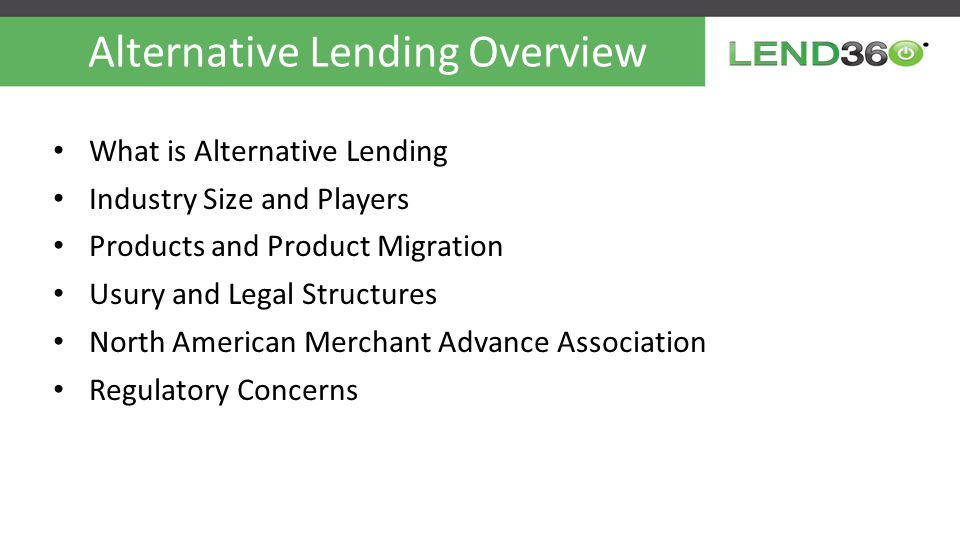 Alternative Lending Overview Build vs.
