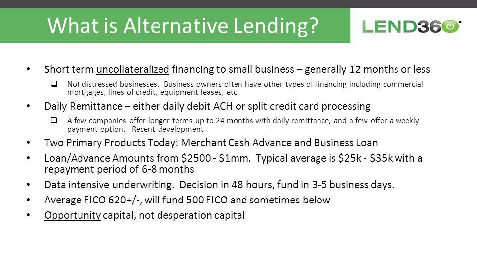 What is Alternative Lending.