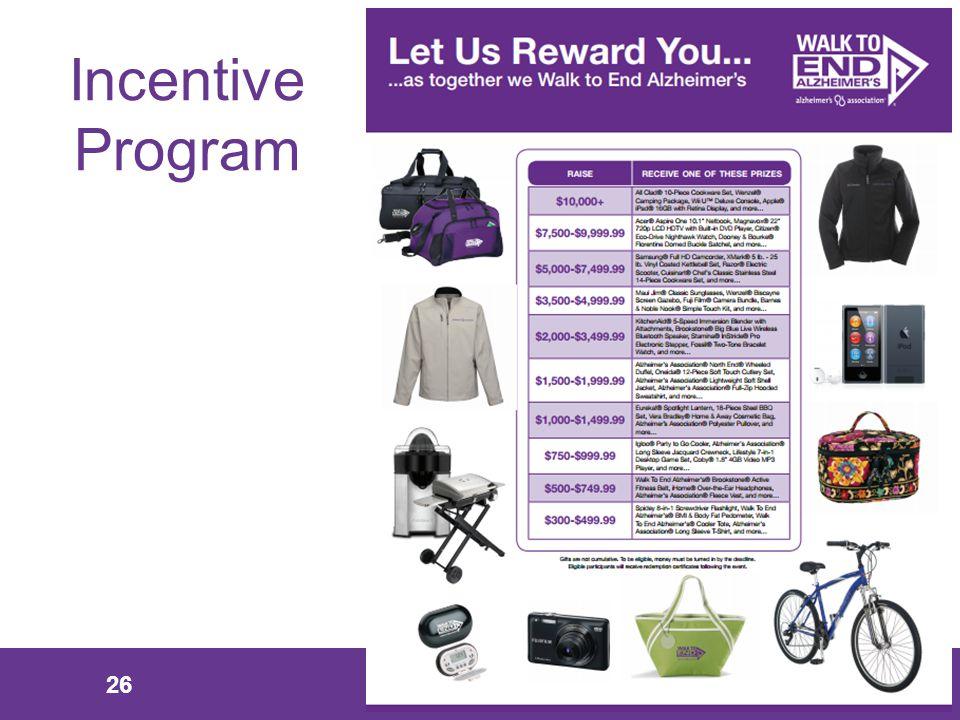 26 Incentive Program