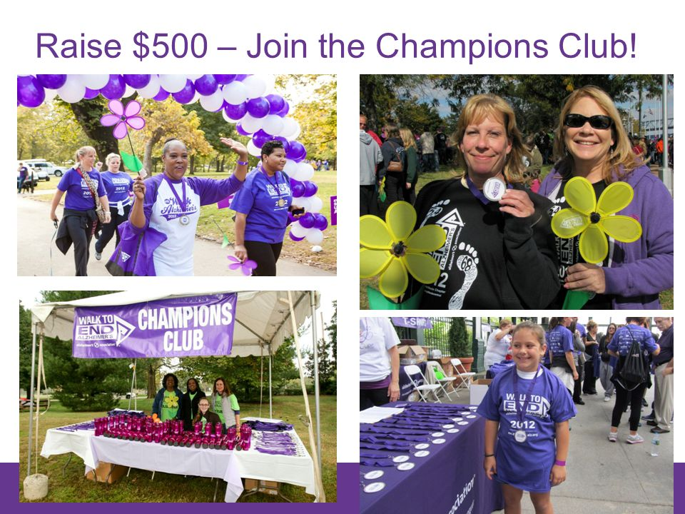 28 Raise $500 – Join the Champions Club!