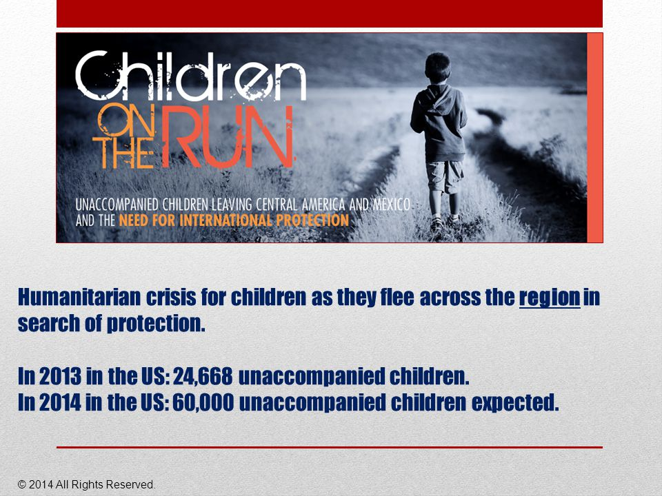Humanitarian crisis for children as they flee across the region in search of protection.
