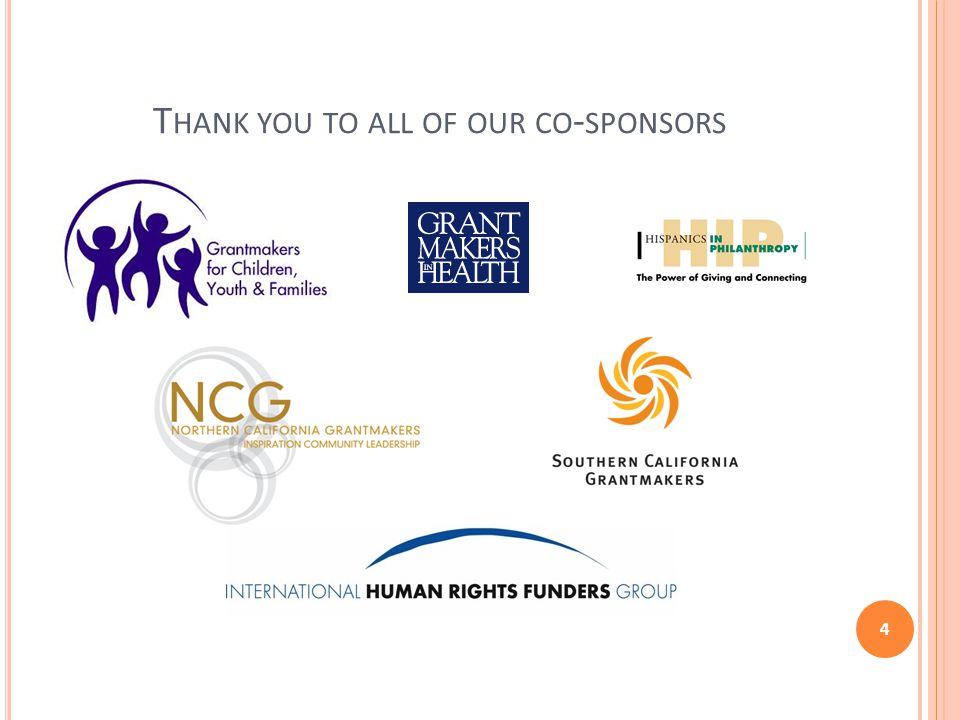 T HANK YOU TO ALL OF OUR CO - SPONSORS 4