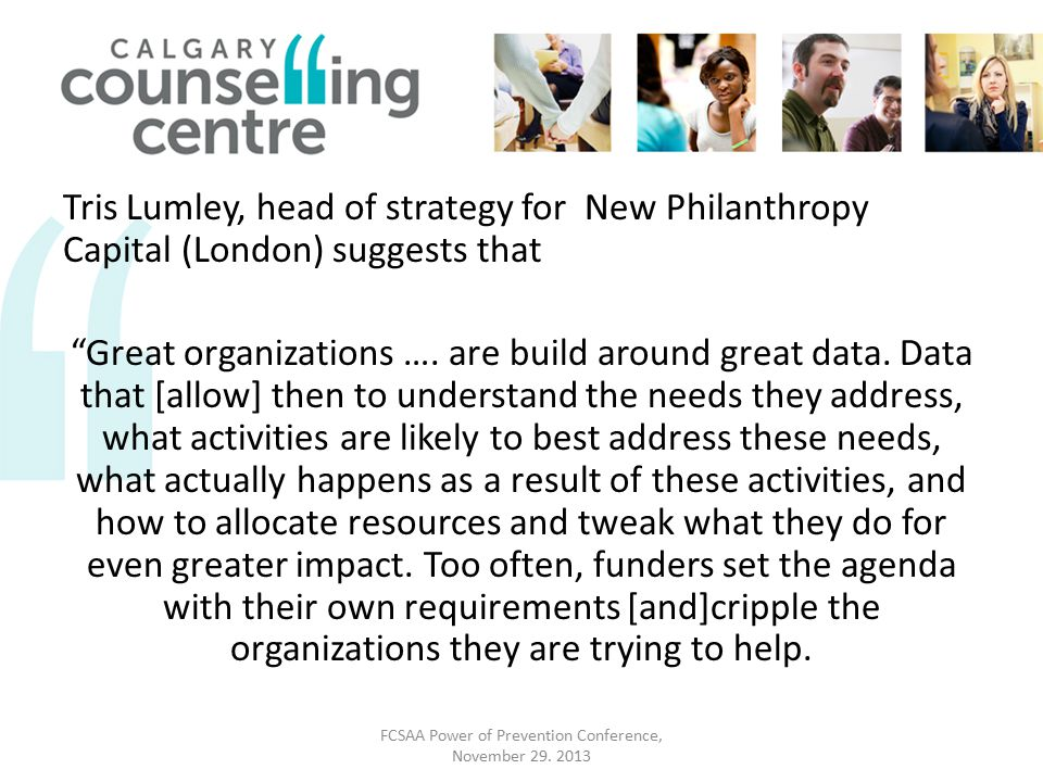 Tris Lumley, head of strategy for New Philanthropy Capital (London) suggests that Great organizations ….