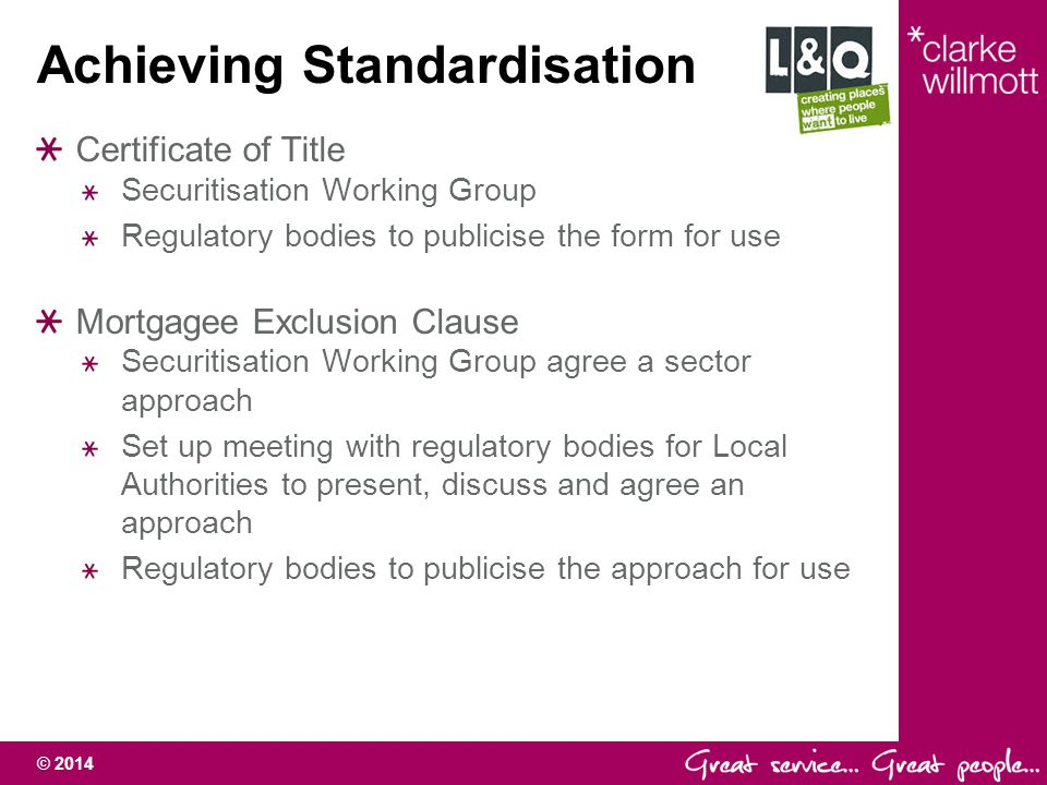 © 2014 Standardised Certificate of Title What is a Certificate of Title.