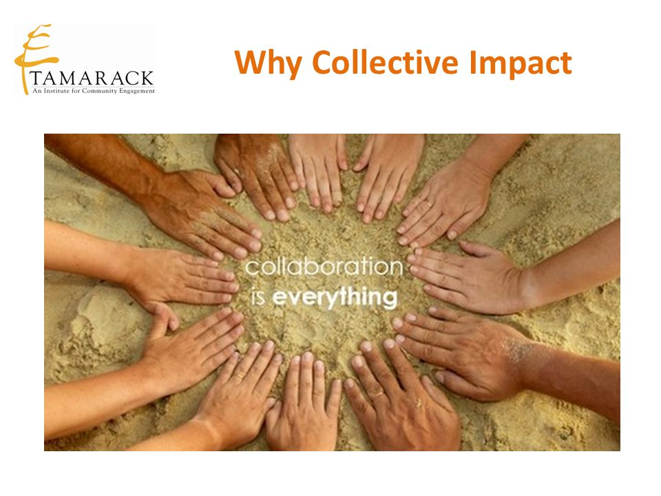 From Isolated Impact to Collective Impact Isolated Impact Funders select individual grantees Organizations work separately Evaluation attempts to isolate a particular organization's impact Large scale change is assumed to depend on scaling organizations Corporate and government sectors are often disconnected from foundations and non-profits.
