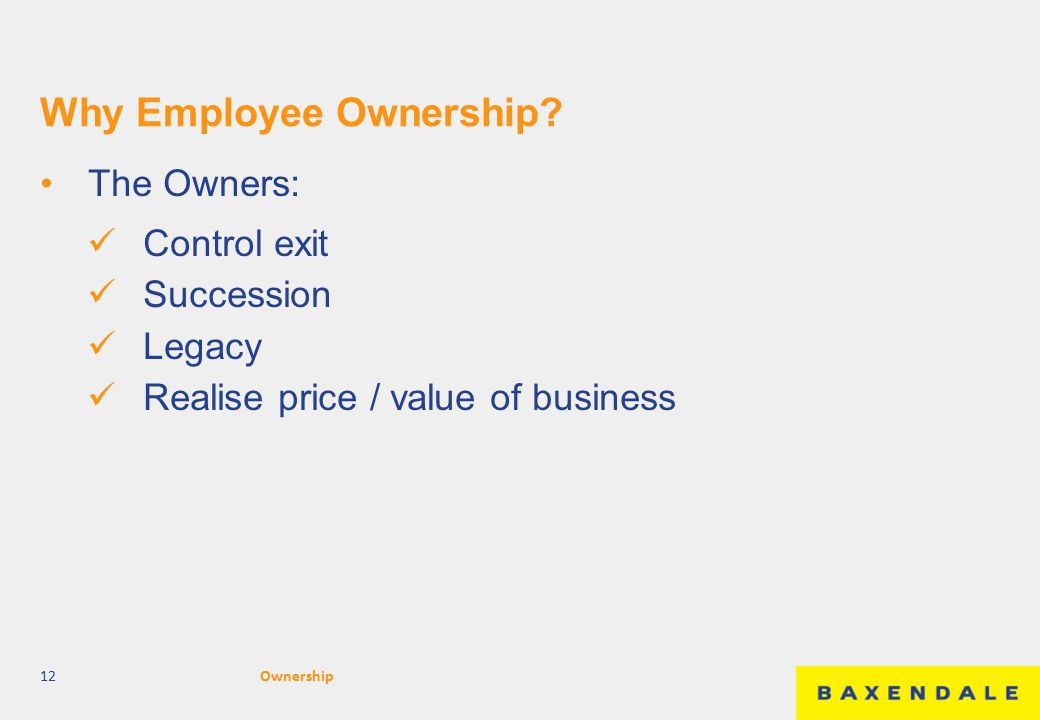Why Employee Ownership.
