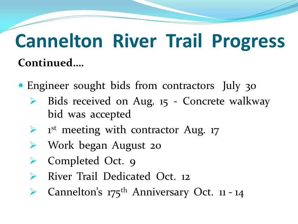 Cannelton River Trail Progress Continued….
