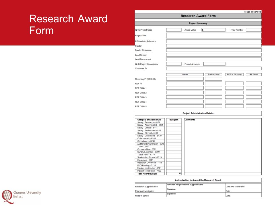 19 Research Award Form