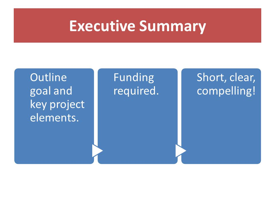 Outline goal and key project elements. Funding required.