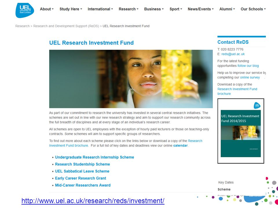 http://www.uel.ac.uk/research/reds/investment/