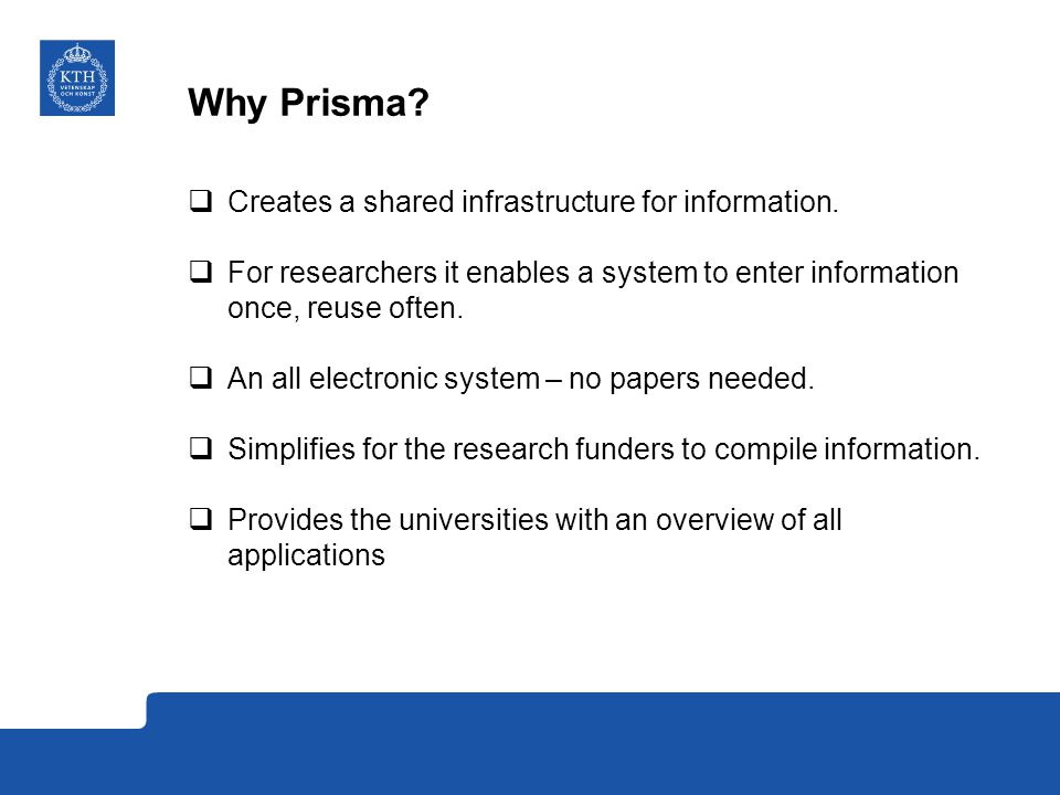 How does Prisma affect KTH.