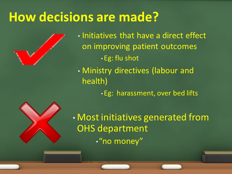 """DECISION MAKING: """"I am not sure. It goes to the Board. I have no idea how they make the decision"""""""