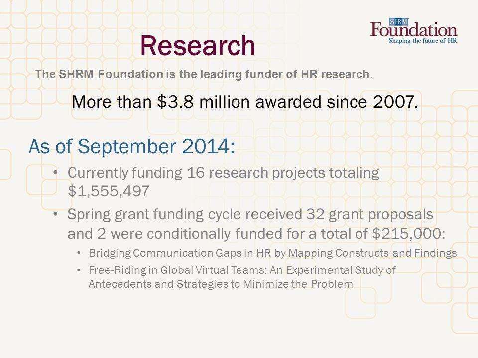 Scholarship Programs More than 100 scholarships awarded in 2014.