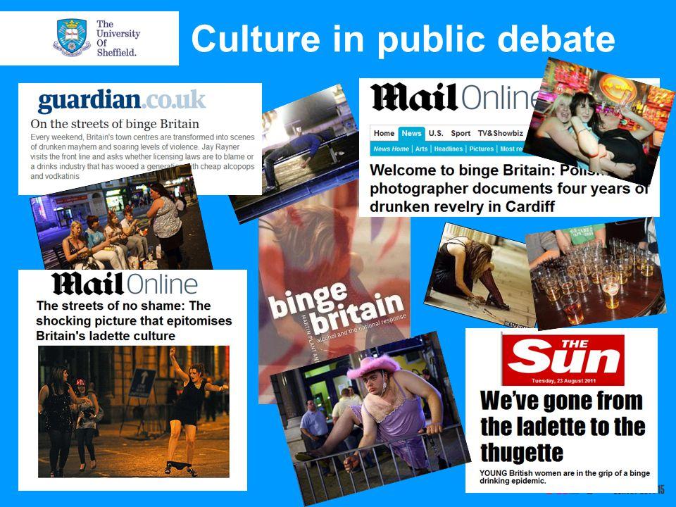 Culture in public debate