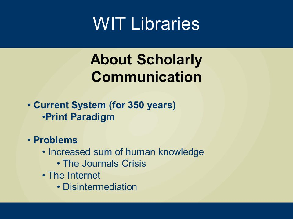 WIT Libraries