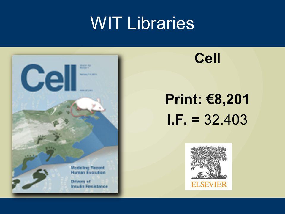 WIT Libraries Physics Reports Print: €8,467 I.F. = 20.394