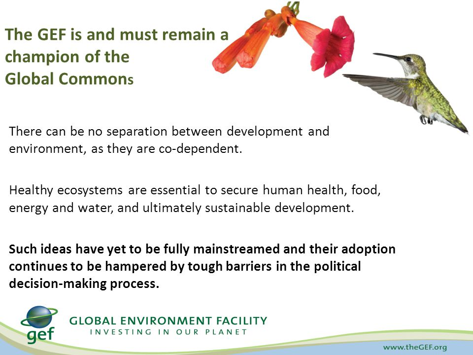 There can be no separation between development and environment, as they are co-dependent.